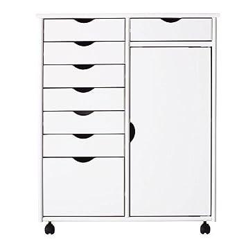 Stanton 29 en. Blanco 8-drawer doble amplia cesta de la compra ...