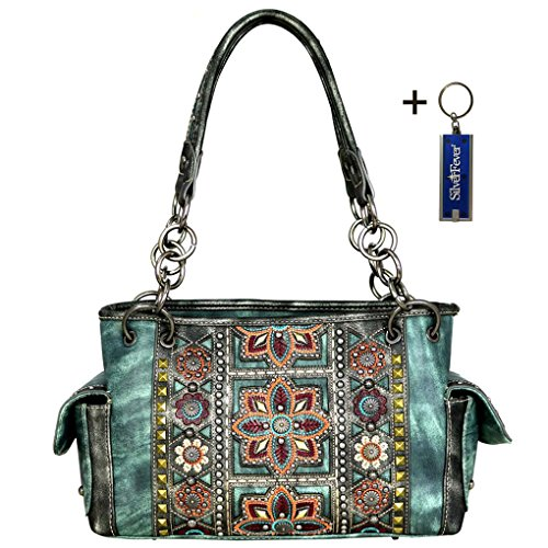 montana-west-western-bling-collection-satchel-handbag-w-key-chain-turquoise-embroidered-concho-conce