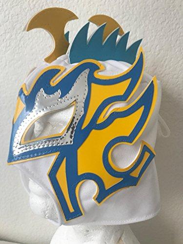 Lucha Dragons Costumes (Kalisto lucha dragons kids mask White w/ yellow Pentágon jr sin cara mil LUCHA)