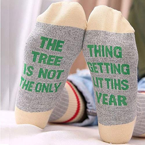 (Ants-Store - 1 Pair Middle Tube Socks Women Men Casual Style Letter Sewn Cotton Blend Breathable Stretch Anti Slip Hosiery)