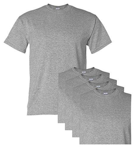 Gildan Adult DryBlend Sports T-Shirt, Sport Grey, L (Pack of 5)