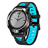 OOLIFENG Fitness Tracker, Activity Wristband with Sports Connected Watch, Blood Pressure Heart Rate Monitor, for Men Women Kids,Blue