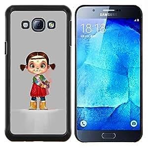 Eason Shop / Premium SLIM PC / Aliminium Casa Carcasa Funda Case Bandera Cover - Carácter de la India los niños del cabrito de la Madre - For Samsung Galaxy A8 ( A8000 )