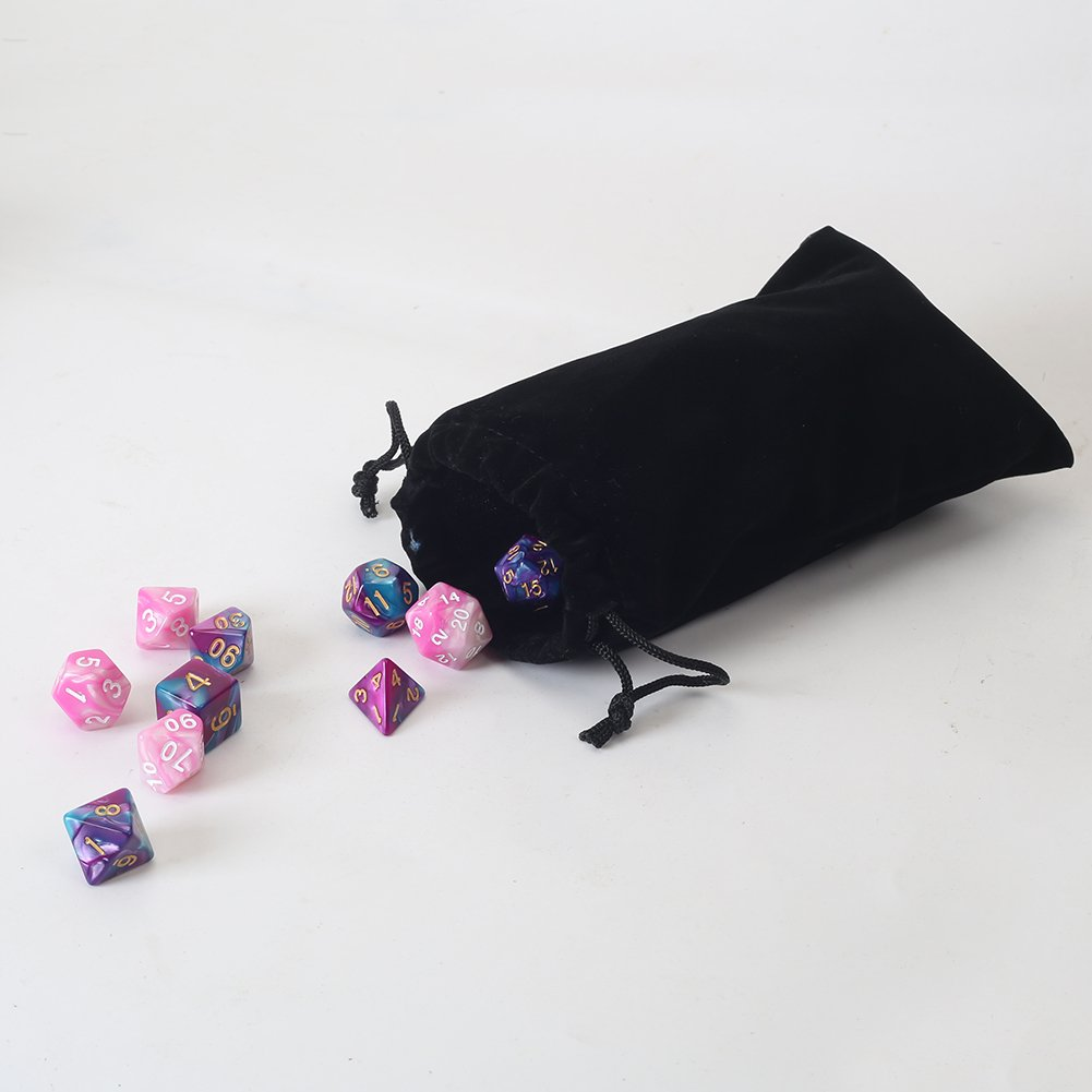 "20pcs Velvet Cloth Gift Pouches Purple HRX Package Small Velvet Jewelry Bags with Drawstring 2.8/"" X 3.6/"""