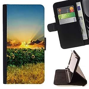 LG Magna / G4C / H525N H522Y H520N H502F H500F (G4 MINI,NOT FOR LG G4)Case , Naturaleza Girasoles- la tarjeta de Crédito Slots PU Funda de cuero Monedero caso cubierta de piel