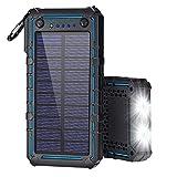 Solar Charger, Solar Power Bank, 13500mAh Portable Solar...