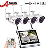Cheap ANRAN 4CH 960P Wireless Home Surveillance Security Camera System 4pcs 1.3MP WIFI Bullet IP Cameras WIFI NVR with 12″ Monitor , Remote View by IOS or Android App,No Hard Drive