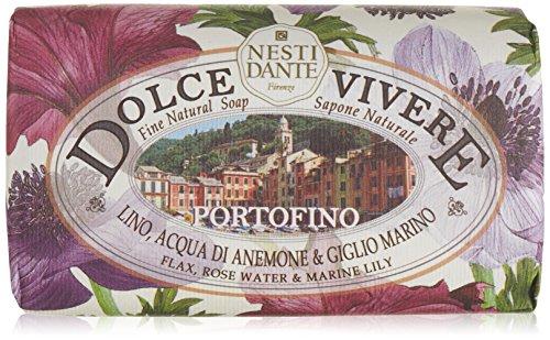 Nesti Dante Dolce Vivere Fine Natural Soap   Portofino   Flax  Rose Water   Marine Lily 250G 8 8Oz