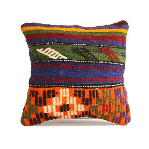 Turkish Kilim Pillow Home Decor Decorative Pillow Home: Amazon.com: 18x18 Kilim Pillow Southwest Pillow Turkish