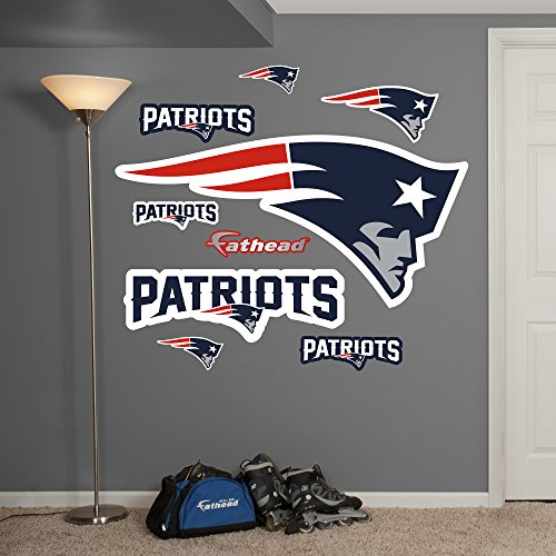 NFL New England Patriots Logo Big Wall Decal by Fathead Peel and Stick Decals