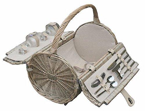 Barrel 2 Person Retro Style Fitted Picnic Basket 51nQl5mIkGL