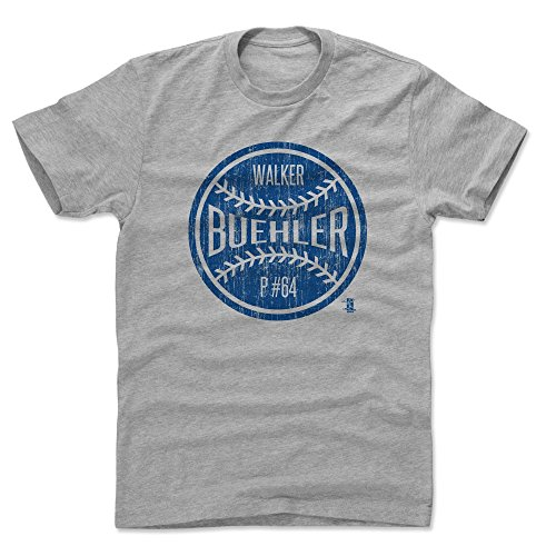 500 LEVEL's Walker Buehler Cotton Shirt XX-Large Heather Gray - Los Angeles Baseball Fan Apparel - Walker Buehler Los Angeles Ball B