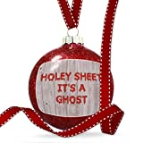 Christmas Decoration Holey Sheet It's A Ghost Halloween Bloody Wall Ornament