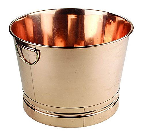 Old Dutch International Big Copper Metal Ice Bucket Party Tub With Handles, 7.75 Gallon 22 Inch W X 12.25 Inch H by Old Dutch
