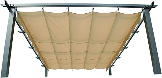 Angel Living 3X3m Top Roof de Aluminio para Recambio de Pérgola, Techo Retráctil a Prueba de Humedad: Amazon.es: Jardín