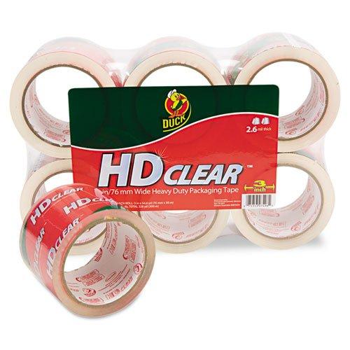 - Henkel 0007496 Heavy-Duty Carton Packaging Tape, 3 in. x 55 yards, Clear, 6 Per Pack