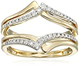 14k yellow gold diamond solitaire enhancer ring (1/4cttw, i color, i3 clarity), size 8