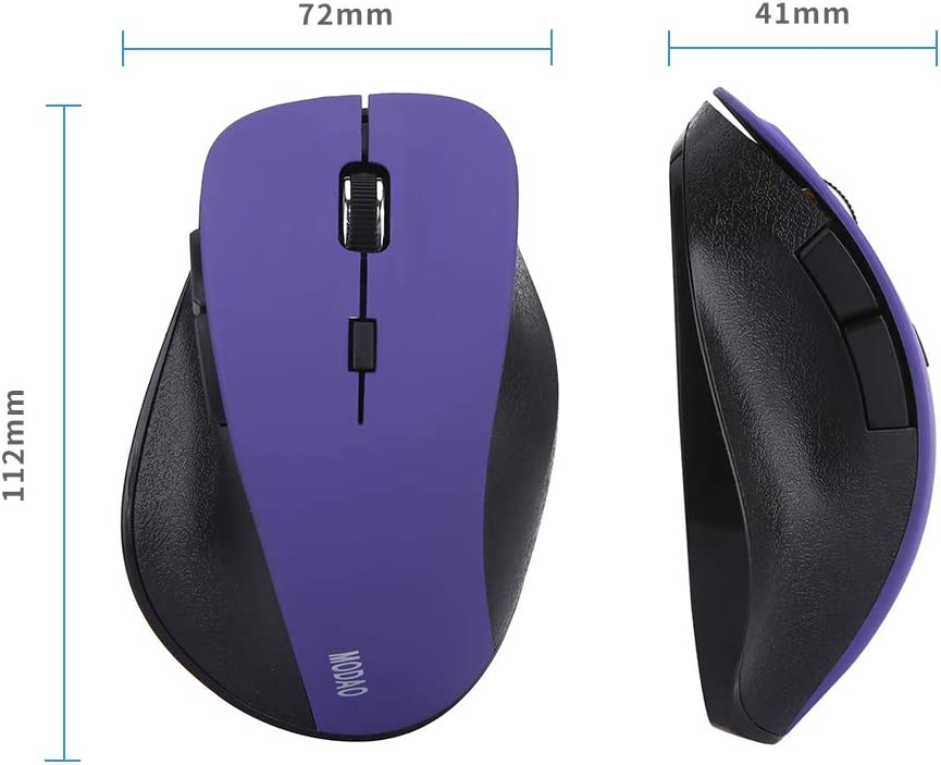 Bluetooth 4.0/&2.4G Dual Mode Wireless Gaming Mouse PC,Notebook,Android Tablet Ergonomic Design 6 Buttons/for Mac Laptop 3 Adjustable DPI Levels