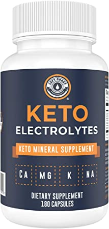 Keto Electrolyte Supplement, 180 Capsules. Electrolyte Pills for Ketogenic Diet. Magnesium, Potassium, Sodium, Calcium. Electrolytes Keto Tablets for Hydration Support* by Left Coast Performance