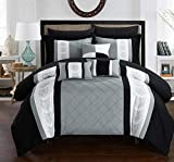 Black and White King Size Comforter Sets Chic Home Clayton 10 Piece Comforter Set, King, Grey