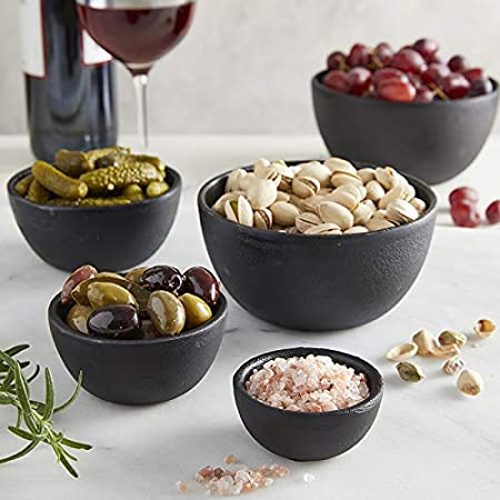 3.14 Inch Extra Small Solid Cast Iron Decorative Serving Bowls