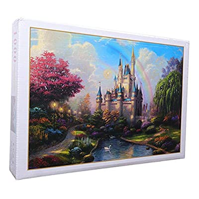 Castle Jigsaw Puzzle 1000 Pieces for Adults, Landscape Pattern Adult Children Puzzle Set Art Painting Scenery Educational Toy, Funny Family Games, Home Decoration: Sports & Outdoors