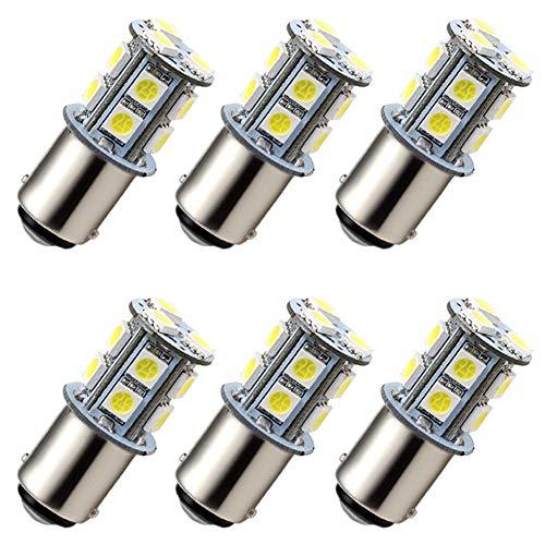 Lamp Ac Festoon 12v - GRV Ba15d 1076 1142 High Bright Car LED Bulb 13-5050SMD DC 12V Cool White Pack of 6