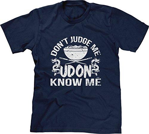 Blittzen Mens Dont Judge Me Udon Know Me, XL, Navy Blue
