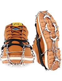 Traction Cleats Crampons Ice Snow Cleats Ice Grips Grippers Microspikes Men Women Boots Shoes Spikes Walking Camping Hiking Winter Snow Spikes