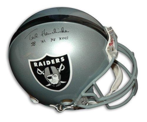 (Autographed Ted Hendricks Oakland Raiders Proline Helmet Inscribed