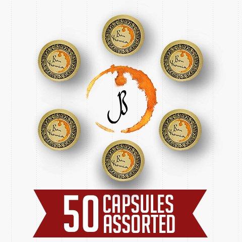 Bonhomia Nespresso Compatible Coffee Capsules, Multiple Blends, 500g (50 Pods)
