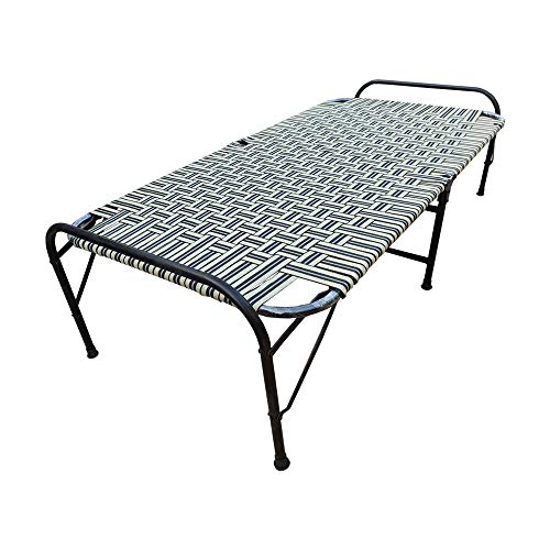 AARAM CHARPAI UDYOG Niwar Folding Bed |Size 3×6 ft Lightweight | Movable Folding Bed