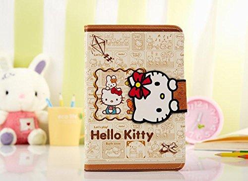 iPad Mini Case, Phenix-Color Hello Kitty Design Premium Flip Stand PU Leather Hard Case for Apple iPad Mini 1/2/3 + Free Screen Protector (#7)
