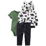 Carter's Baby Boys' 3-24 Months 3 Piece Bear Print Little Jacket Set 6 Months