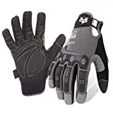 Valeo Industrial V412 Mechanics Impact and Anti-Vibe Pro Gloves, VI9548, Pair, Grey, Medium