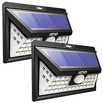 Focos solares exterior de atid foco 46 led exterior luz solar jardin con sensor de - Focos solares exterior ...