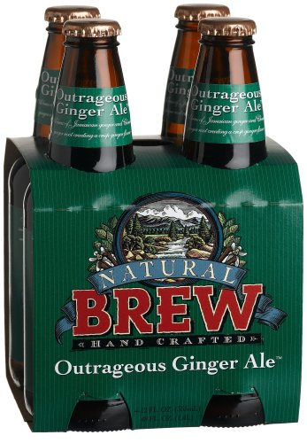Natural Brew Outrageous Ginger Ale, 4-pack, 12 oz ea