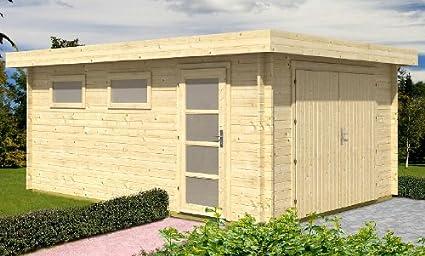 bloque casa Garage C01 – 380 x 536 cm – 40 mm – CarPort Jardín Casa – Incluye verglasung – Bloque Casa de garaje: Amazon.es: Coche y moto