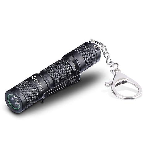Aidier - Llavero con mini linterna (A7, 1 pila AAA incluida ...