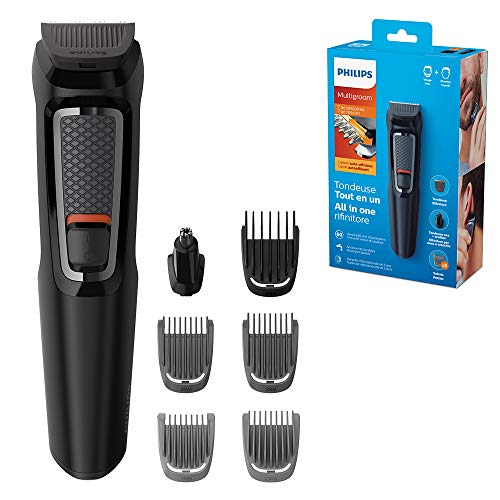 Philips Series 3000 7-in-1 Multi Grooming Kit for Beard and Hair with Nose Trimmer Attachment - MG3720/33