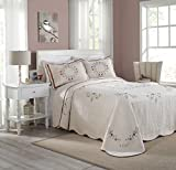 Modern Heirloom Collection Angela Cotton Filled Bedspread, King, 120 by 118-Inch