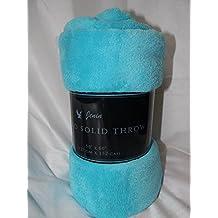 Gorgeous Home Small throw soft blanket Microplush Comfort Cozy fleece, 50 Inch x 60 inch, AQUA BLUE