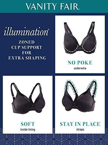 Vanity Fair Women's Illumination Full Figure Zoned-in Support Bra