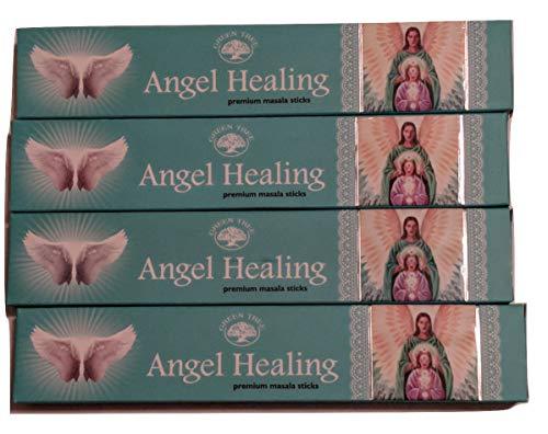 - Angel Healing Incense Sticks by Green Tree (Multi Packs) (Four Packs (48 Sticks))