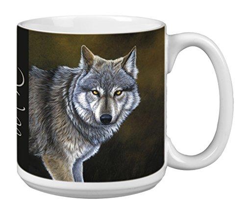 (Classic Wolf Extra Large Mug, 20-Ounce Jumbo Ceramic Coffee Mug Cup, Animal Themed Wildlife Art - Gift for Wolf Lovers (XM29736) Tree-Free Greetings)