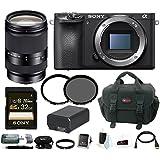 Sony a6500 Mirrorless Camera w/ 18-200mm Lens + 32GB Accessory Bundle