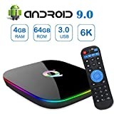 Android 9.0 TV Box,Q Plus Android Boxes with 4GB RAM 64GB ROM Quad-core