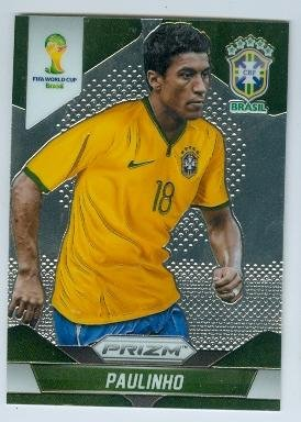 fan products of Paulinho trading card (Brasil Corinthians Soccer) 2014 World Cup Prizm Chrome #110