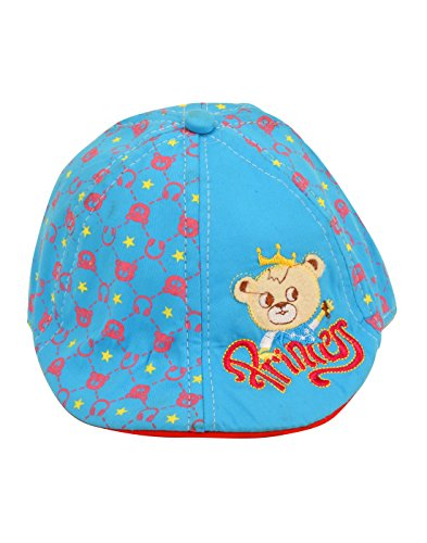 Tiekart Blue Just So Cute Baby Hat For Girls Girlie Hats Blue Caps Teddy Cotton