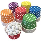 Outside the Box Papers Rainbow Theme Candy/Nut Mini Baking Cups 48 Pack Red, Blue, Yellow, Green, Purple, Orange